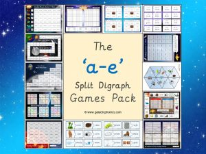 a-e split digraph phonics games pack