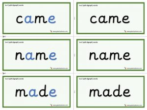 a-e (split digraph) word cards
