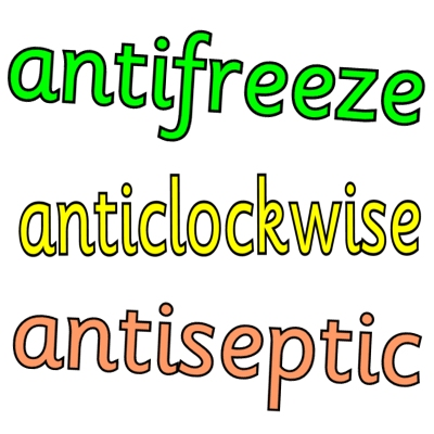 anti- prefix worksheets and resources