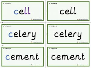 ce word cards