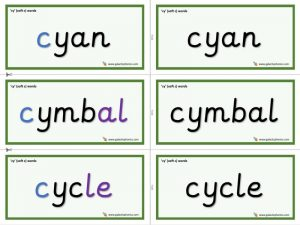cy word cards