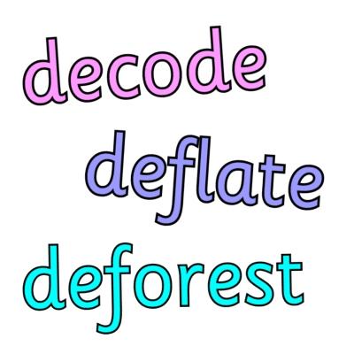de- prefix worksheets and resources