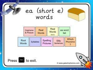ea (short e) phonics powerpoint