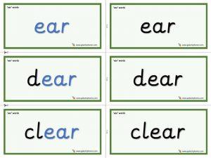 ear word cards