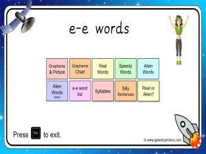 e-e (split digraph) phonics powerpoint