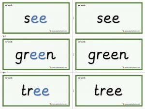 ee word cards
