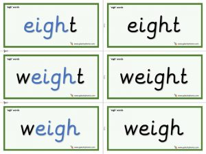 eigh word cards