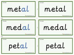 -al word cards