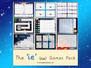 ie (long i) phonics games pack