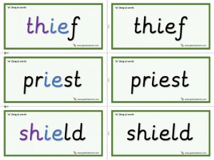 ie (long e) word cards
