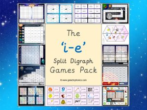 i-e (split digraph) phonics games pack