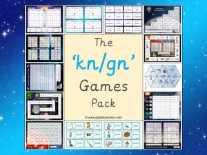 kn and gn phonics games pack