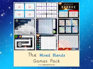 mixed blends phonics games pack