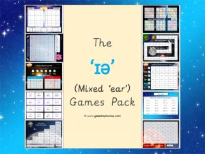 mixed 'ear' phonics games pack