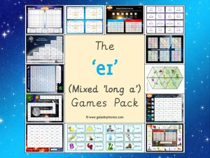 mixed long a phonics games pack