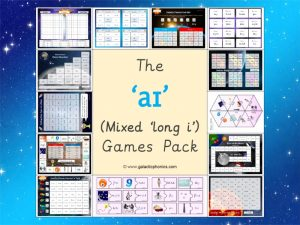 mixed long i phonics games pack