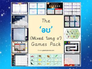 mixed long o phonics games pack