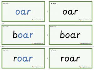 oar word cards