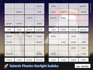 sudoku phonics game