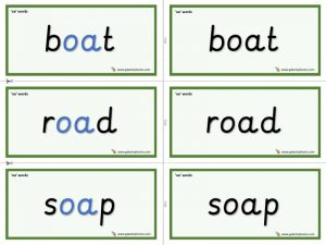 oa word cards