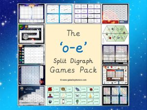 o-e (split digraph) phonics games pack
