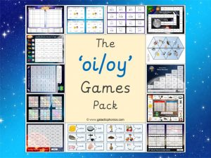 oi and oy phonics games pack