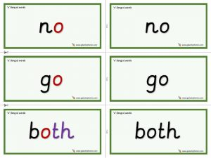 o (long o) word cards
