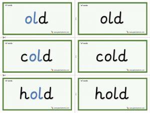 ol (long o) word cards