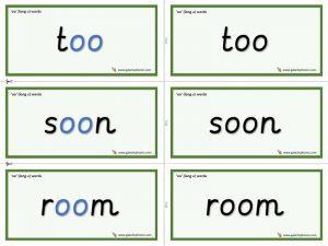 oo word cards