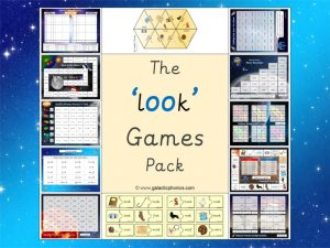 oo (look) phonics games pack