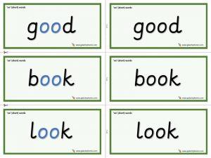 oo (look) word cards