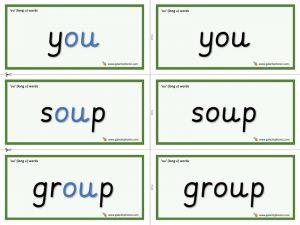 ou (long u) word cards