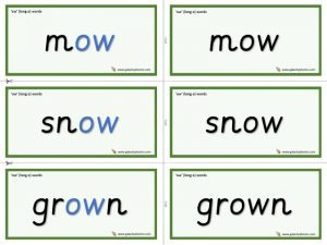 ow (long o) word cards