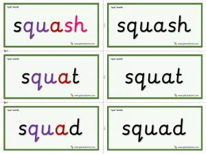 qua word cards