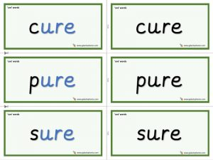 ure word cards