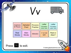 letter sounds 'v' phonics powerpiint