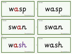 wa word cards