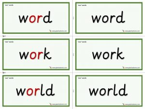 wor word cards