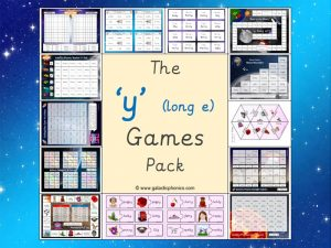y (long e) phonics games pack