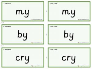 y (long i) word cards