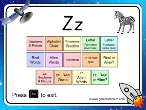 letter sounds 'z' phonics powerpoint