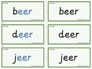 eer word cards