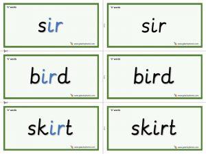 ir word cards