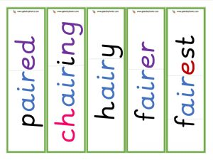 air root word cards