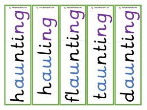 au root word cards (ing)