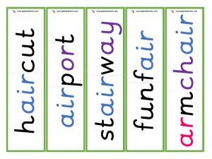 multisyllabic air word cards