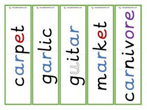 multisyllabic ar word cards