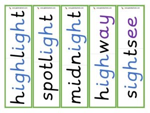 multisyllabic igh word cards
