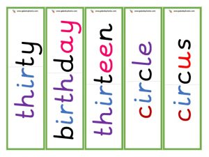 multisyllabic ir word cards