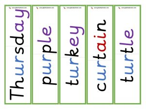multisyllabic ur word cards